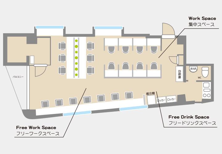 COffice御茶ノ水のフロアマップ