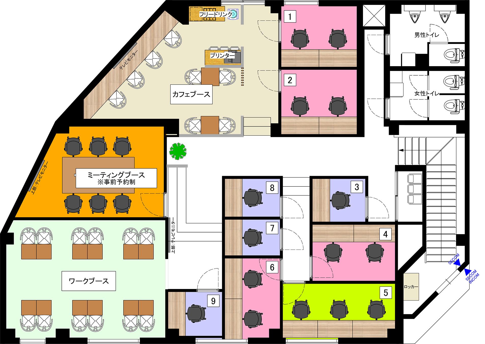 COffice葛飾青砥のフロアマップ